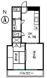KAMLOOPS Y・C[402号室]の間取り