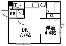 ジプソフィラ312[4階]の間取り