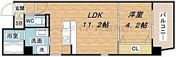 B-PROUD江戸堀[4階]の間取り