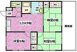 広島県広島市南区向洋新町1丁目の賃貸マンションの間取り
