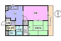 第五大場ビル[2階]の間取り