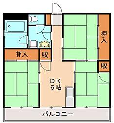 アソシエート前田[5階]の間取り