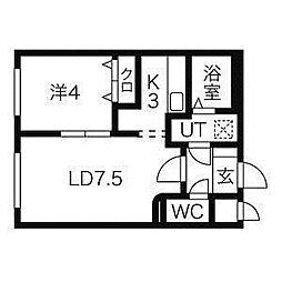 イーストポルトN14[4階]の間取り