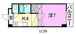 めいぷるどおり[205 号室号室]の間取り