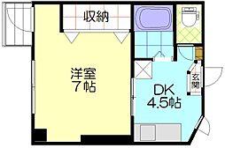 CAマンション 2階1DKの間取り