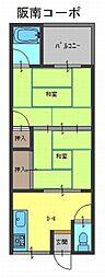 阪南コーポ[2階]の間取り
