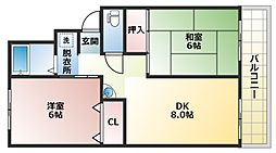 ハイツ高田[2階]の間取り