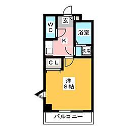 エターナル親栄[3階]の間取り
