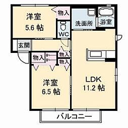 Neu Leben ノイレーベン[2階]の間取り