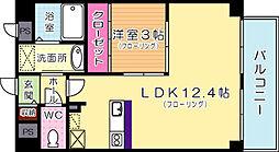 福岡県北九州市門司区大里本町3丁目の賃貸マンションの間取り