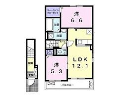Lien Kurinoki B[2階]の間取り