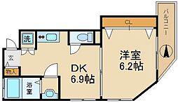 森小路矢野マンション[4階]の間取り