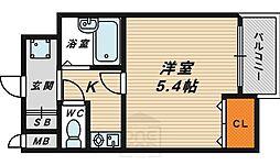 大阪府大阪市鶴見区鶴見6丁目の賃貸アパートの間取り