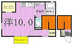 千葉県流山市東初石4の賃貸アパートの間取り