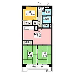 City 堀木[8階]の間取り