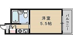 朝日プラザ新大阪アネックス[7階]の間取り