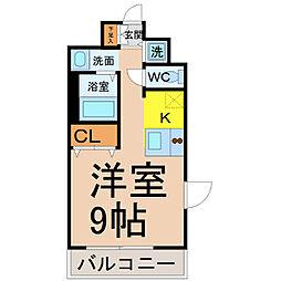 プレサンス名古屋STATIONアライブ[408号室]の間取り