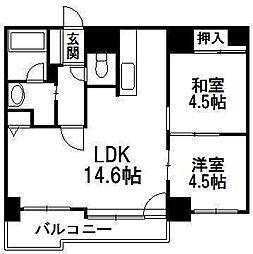 ガーデンハウス発寒中央II[4階]の間取り