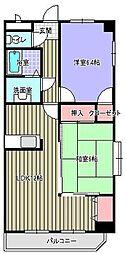 グランドステージ桜ヶ丘[3B号室]の間取り