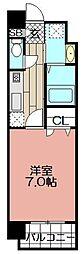 エンクレスト薬院(1304)[1304号室]の間取り