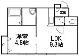 LEE TOWN C[203号室]の間取り