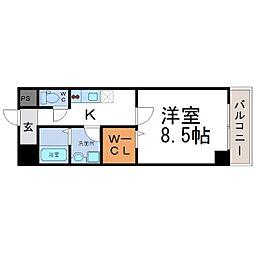 ケイ・クリスタルⅡ[6階]の間取り