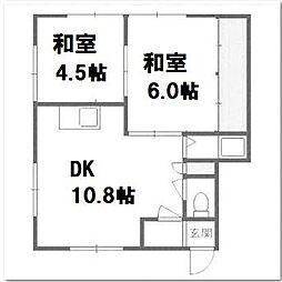 宮島コーポ[2階]の間取り