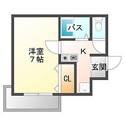 シティライト江坂[3階]の間取り