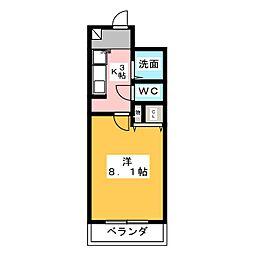 愛知県名古屋市緑区左京山の賃貸マンションの間取り