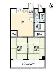 福岡県福岡市南区鶴田4丁目の賃貸マンションの間取り