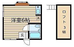 シティ青柳[201号室]の間取り