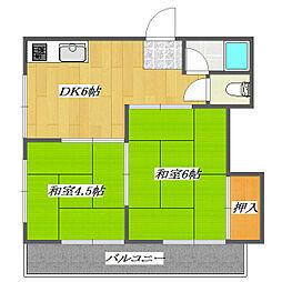 Heights Umehara[2-101号室]の間取り