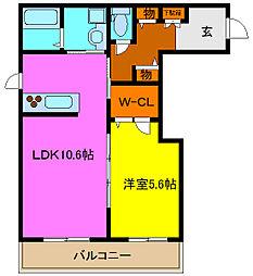 シャーメゾン岩田町[1階]の間取り