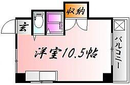 広島県広島市中区西平塚町の賃貸マンションの間取り