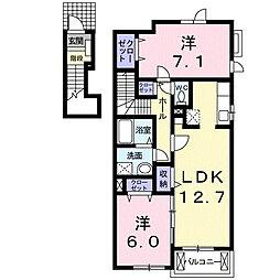 ビューネ遠藤C[2階]の間取り