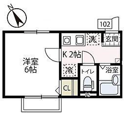 仮称フィカーサ片倉[102号室号室]の間取り