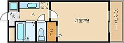 リバーサイド金岡[1階]の間取り