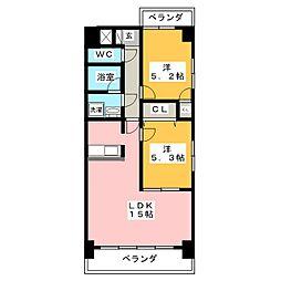 クレアートノムラ[4階]の間取り
