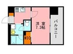 仮称)LANDIC 美野島3丁目 12階1Kの間取り