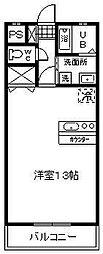 花ヶ島コーポ[302号室]の間取り