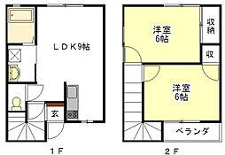 [テラスハウス] 三重県津市一志町田尻 の賃貸【/】の間取り