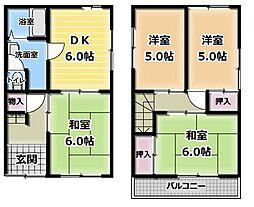 [一戸建] 大阪府門真市島頭2丁目 の賃貸【/】の間取り