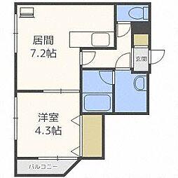 Raffles Court[4階]の間取り