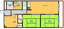 第2青葉マンション403[403号室]の間取り