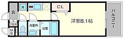 プレサンス心斎橋ソレイユ 14階1Kの間取り
