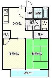 エイトハイツ3[1階]の間取り