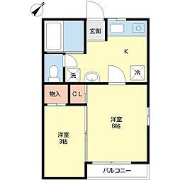 新潟県新潟市中央区新和4丁目の賃貸アパートの間取り