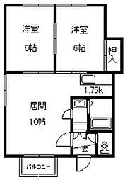 華城ハイツ16[2階]の間取り