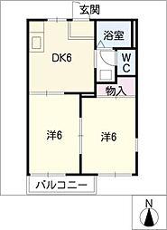 SkyleCosmos E棟[2階]の間取り