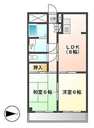 藤二番館[3階]の間取り